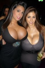 Well endowed bimbos clubbing