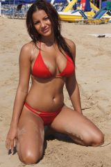 Red bikini hottie