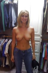 Only jeans in dressing room