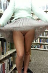 upskirt at library