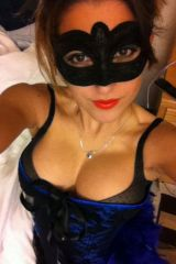 Gorgeous masked girl