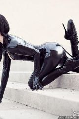 Latex Catsuit and Heels