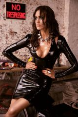 Black Latex Dress Shiny Cleavage