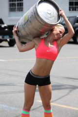 A fit girl and beer; the perfect combination!