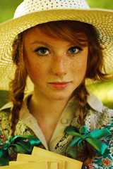 Farmer Girl with Freckles