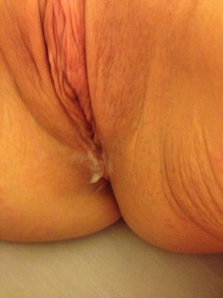 My wife gets pretty creamy during sex. She's got a nice looking pussy too.