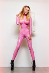 Petite pink latex angel