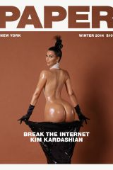 This new Kim Kardashian cover of Paper Magazine lo...