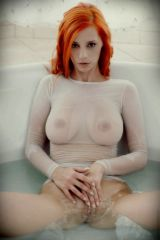 Orange hair, see thru