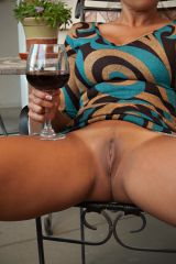 Pussy and wine