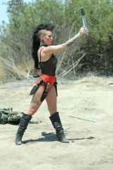Christy Mack throwing knives (X-post /r/ModelsGone...