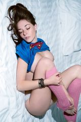 Superman Tee and leg warmers
