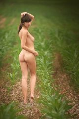 Out standing in her field