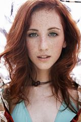 Freckled redhead beauty