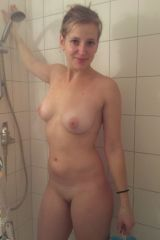 sweet smile in the shower