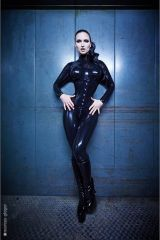 Sister Sinister in Fantastic Rubber catsuit