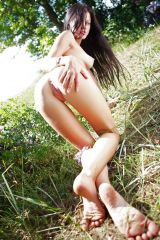 Milana F in the great outdoors