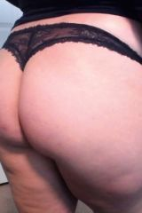 Lace Black Thong