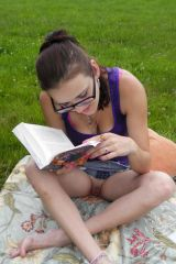 Reading....panties optional