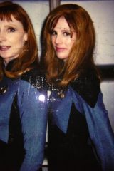 Gates McFadden and her stunt double, Patricia Tall...