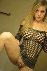 Fishnet shirt and nothing else