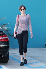 Leaving a pilates class in West Hollywood