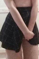18 (f)irst post, horny in my school skirt, I can p...