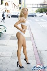 Charlotte McKinney waiting for a ride