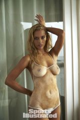 Hannah Ferguson in body paint.