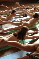 This would be an interesting yoga class to teach