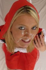 Daynia as Little Jizzfaced Riding-Hood (of legal a...