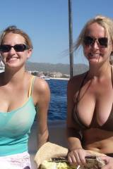 The twins on a boat