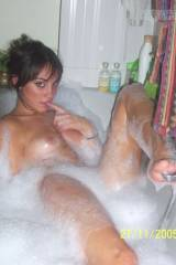 Join her for a bath?