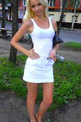 White skirt and tank top