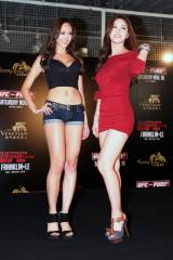 UFC ring girls Jessica Cambensy and Kang Ye-Bin