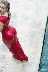 Red Wet Dress (not sure if repost)
