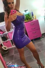 German pornstar Aische rocking a latex dress