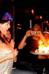 Katy Perry Flashing Her Birthday Cake