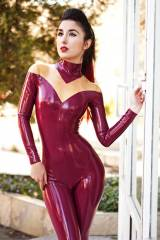 Marilyn Yusuf, custom catsuit design