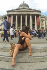 The National Gallery in Trafalgar Square in the Ci...