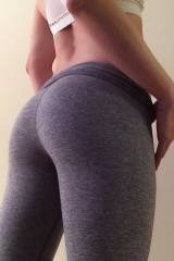 My lil booty in yoga pants.