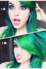 SuperMaryFace, bright neon green!