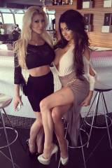 Monica Monroe and Chloe Khan, out on the town