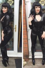 Amelia Belle, gorgeous catsuit (photoshoot behind ...