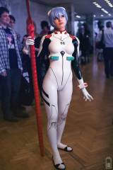 Frosel cosplay as Rei (plug suit by Andromeda Late...