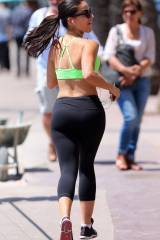 Jessica Lowndes out running