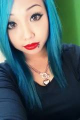 Blue haired beauty