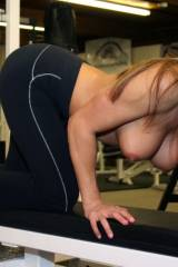 Misty Anderson at the gym