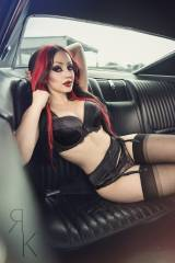 Backseat lingerie (Dani Divine)