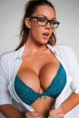Open Shirt, Blue Bra